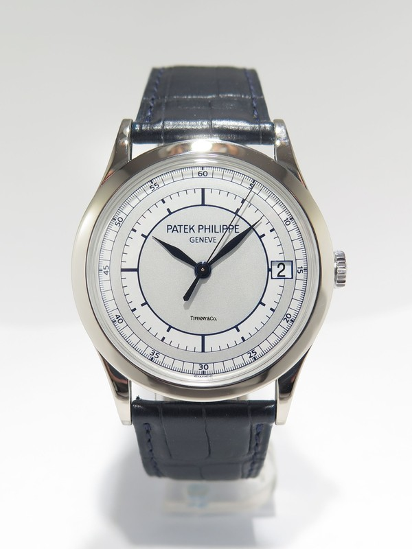 Patek Philippe Calatrava Silvery-Gray Dial Blue Hands watch
