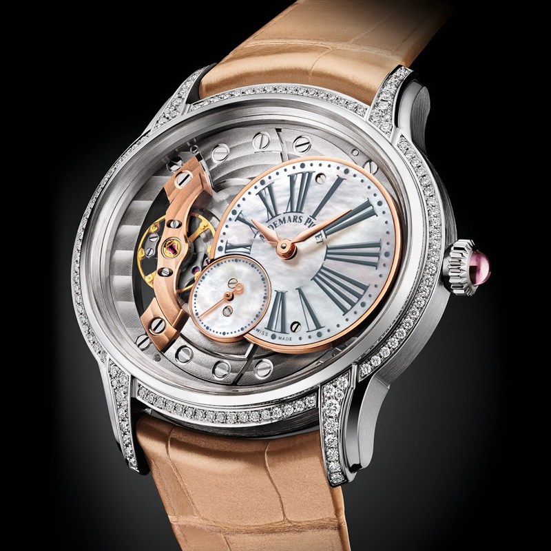 Audemars-Piguet-Millenary-Beige-Alligator-Straps-Replica