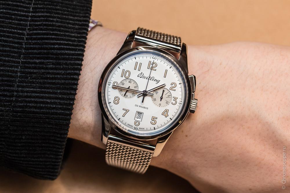 Breitling Transocean Chronograph 1915 Steel Watch Replica