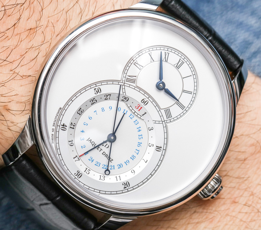 Jaquet Droz Grande Seconde Dual Time Watch Hands-On Swiss