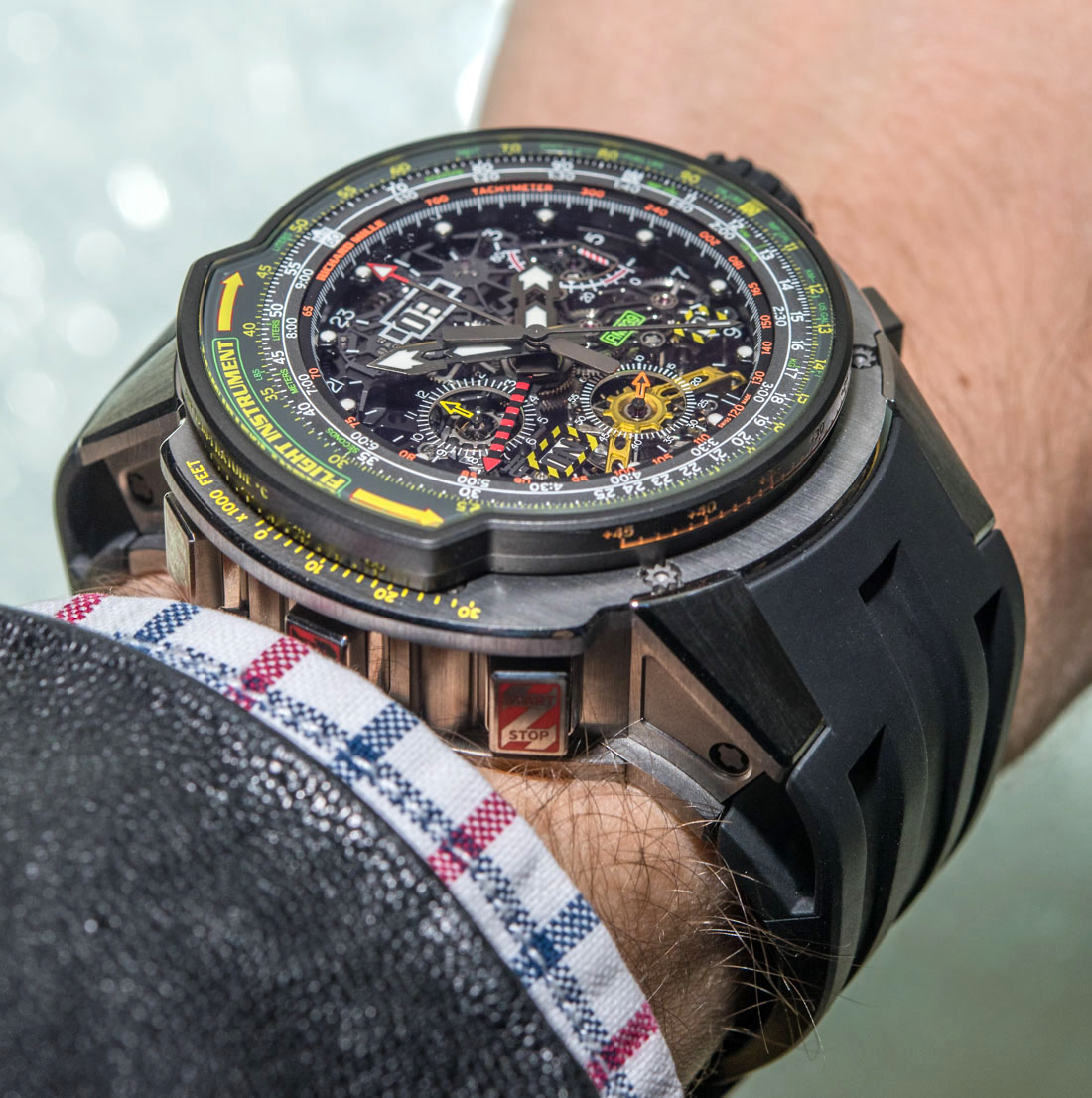 Richard Mille RM 039 Tourbillon Aviation E6-B Flyback Chronograph Watch Hands-On Hands-On