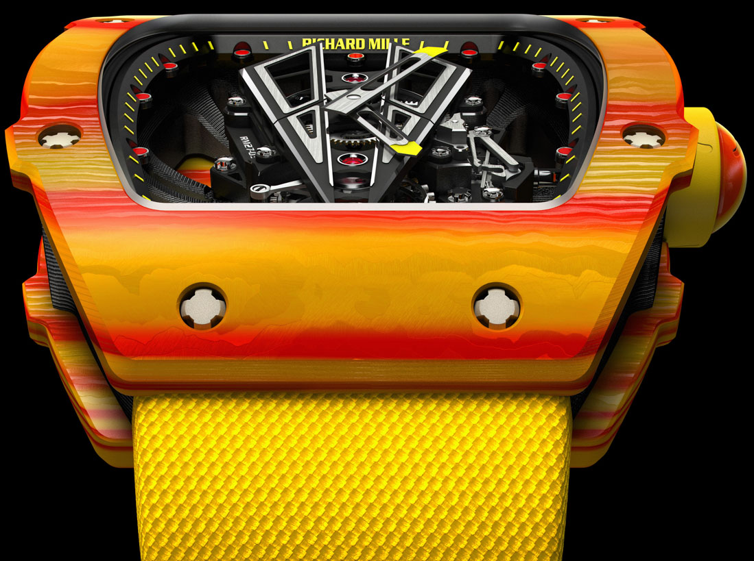 Richard Mille RM 27-03 Rafael Nadal Watch With A Tourbillon To Withstand 10,000 G's Watch Releases