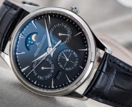 Jaeger-LeCoultre Master Black Dial Leather Steel Watch Replica