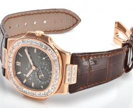 Best Quality Rose Gold Case Patek Philippe Nautilus Replica Watch