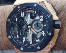 Forged carbon bezel audemars piguet royal oak offshore tourbillon chronograph replica