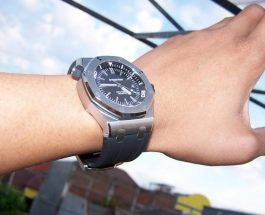 Black Dial Audemars Piguet Royal Oak Offshore Diver Replica Watch Ref.15703ST.OO.A002CA.01