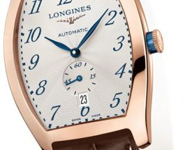 Rose Gold Longines Evidenza Fake Watches With Blue Steel Hands