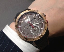 18K Rose Gold Breguet Type XXII Flyback Chronograph Replica Watch