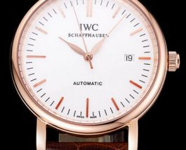 IWC Portofino White Dial Rose Gold Replica Watches ref.5151