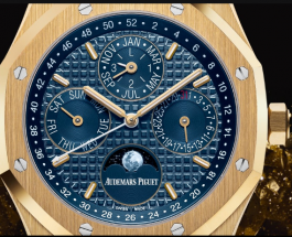 Blue Dial Audemars Piguet Royal Oak Yellow Gold Replica Watch