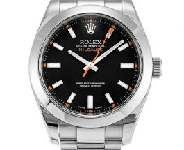 Swiss Fake Rolex Milgauss Black Dial Steel Timepieces