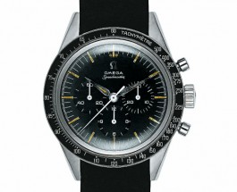 Rocket Watch: The Replica Omega Speedmaster Moonwatch Black Dial Rubber Steel Watch