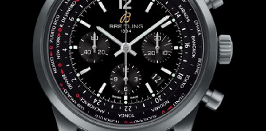 Best Watches: Swiss Replica Breitling Transocean Chronograph Unitime Pilot Blacksteel Limited Edition of 1000 Watches