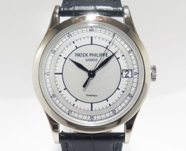 Copy Patek Philippe Calatrava 38mm Silvery-Gray Dial Watches