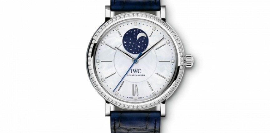 37mm IWC Portofino Replica Watches With Blue Alligator Straps