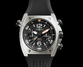 Black Rubber Strap Bell & Ross Marine Swiss Replica Watch