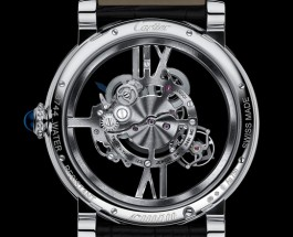 White gold cartier rotonde de cartier astrotourbillon skeleton replica watch