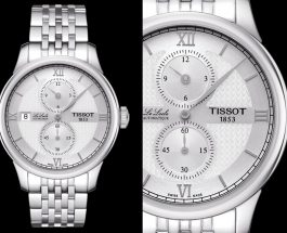 Swiss Made Tissot Le Locle Regulateur White Dial Steel Watch Replica