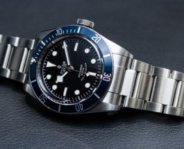 Steel Case Tudor Heritage Black Bay Black Dial Replica Watch