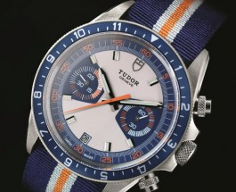 Steel case blue & white dial tudor heritage chrono blue replica