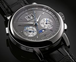 18K white gold a.lange sohne datograph perpetual calendar watch replica