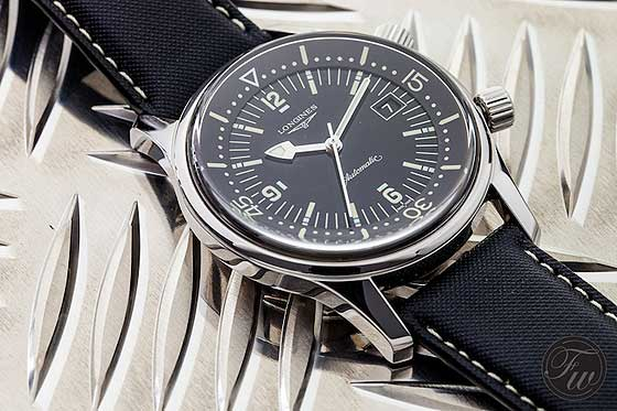 Replica Watches: Reviewing the Longines Legend Diver Black Dial Steel Watch
