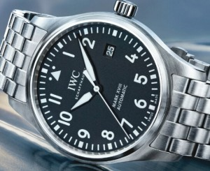 IWC Pilot's Automatic Black Dial Steel Replica Watch for mens