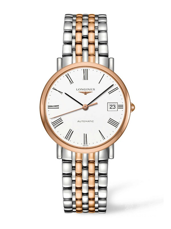 Replica Longines Elegant Stainless Steel & Rose Gold Automatic Watches