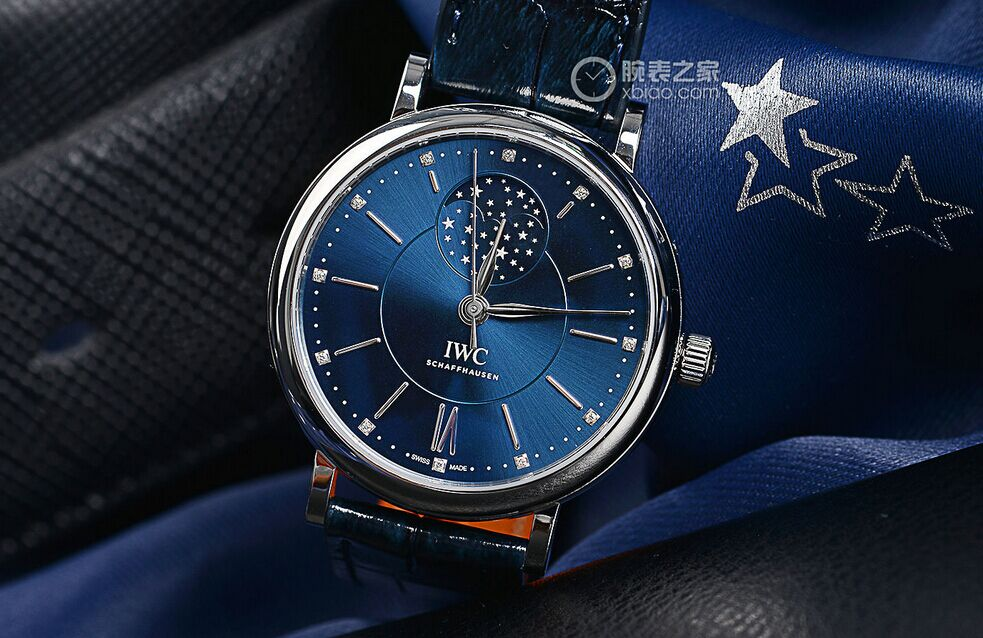 Blue Dial IWC Portofino Automatic Moon Phase 37 Laureus Replica Watch