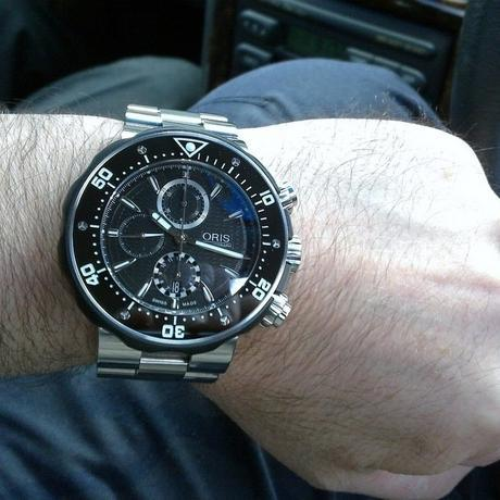 Best oris prodiver chronograph titanium black dial replica watch