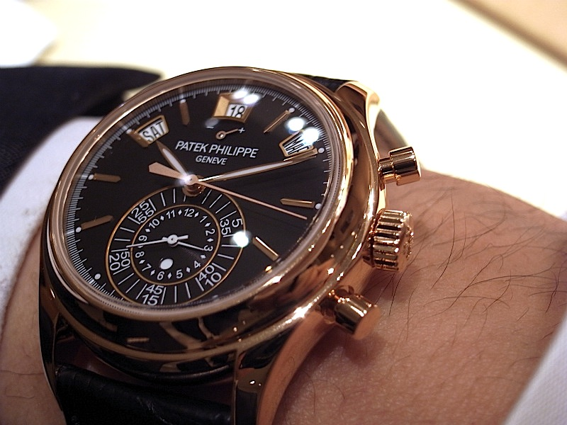 Rose Gold Patek Philippe Complications Chronograph Annual Calendar Replica Watch 5960R-010