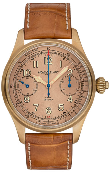 Cheap Wholesale Going Upstream: The Montblanc 1858 Chronograph Tachymeter Limited Edition in Bronze with a Salmon Dial Replica Buyers Guide
