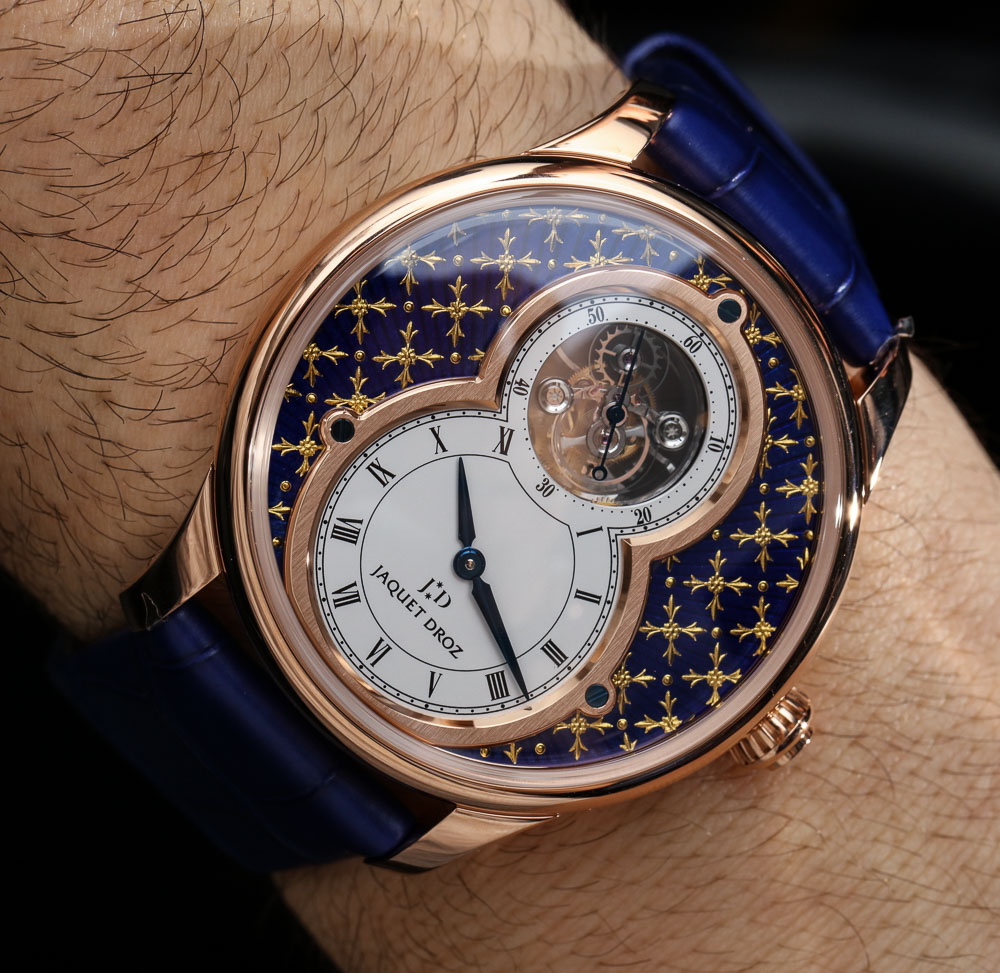 Jaquet Droz Grande Seconde Tourbillon Paillonnée Watch Hands-On Replica Wholesale Center