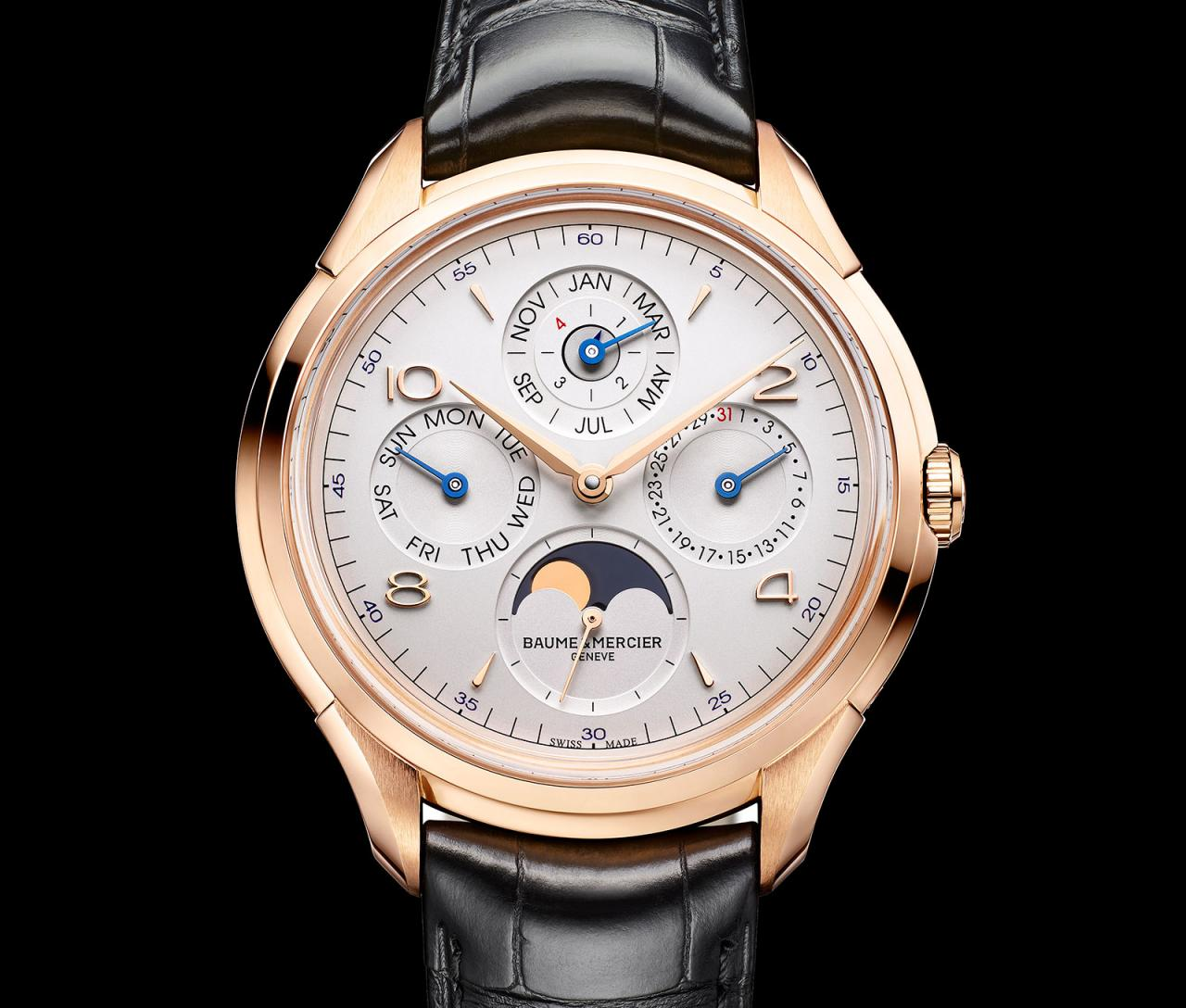 Replica At Lowest Price Baume & Mercier Introduces Red Gold Perpetual Calendar Powered by Vaucher Movement For US$21,000